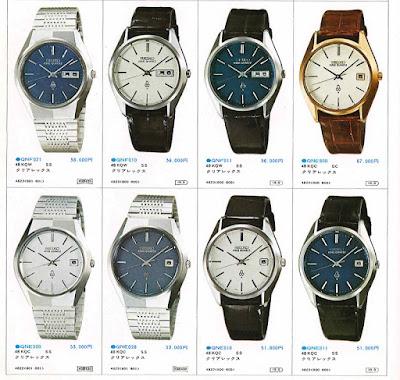 Relojes en un catálogo de producto