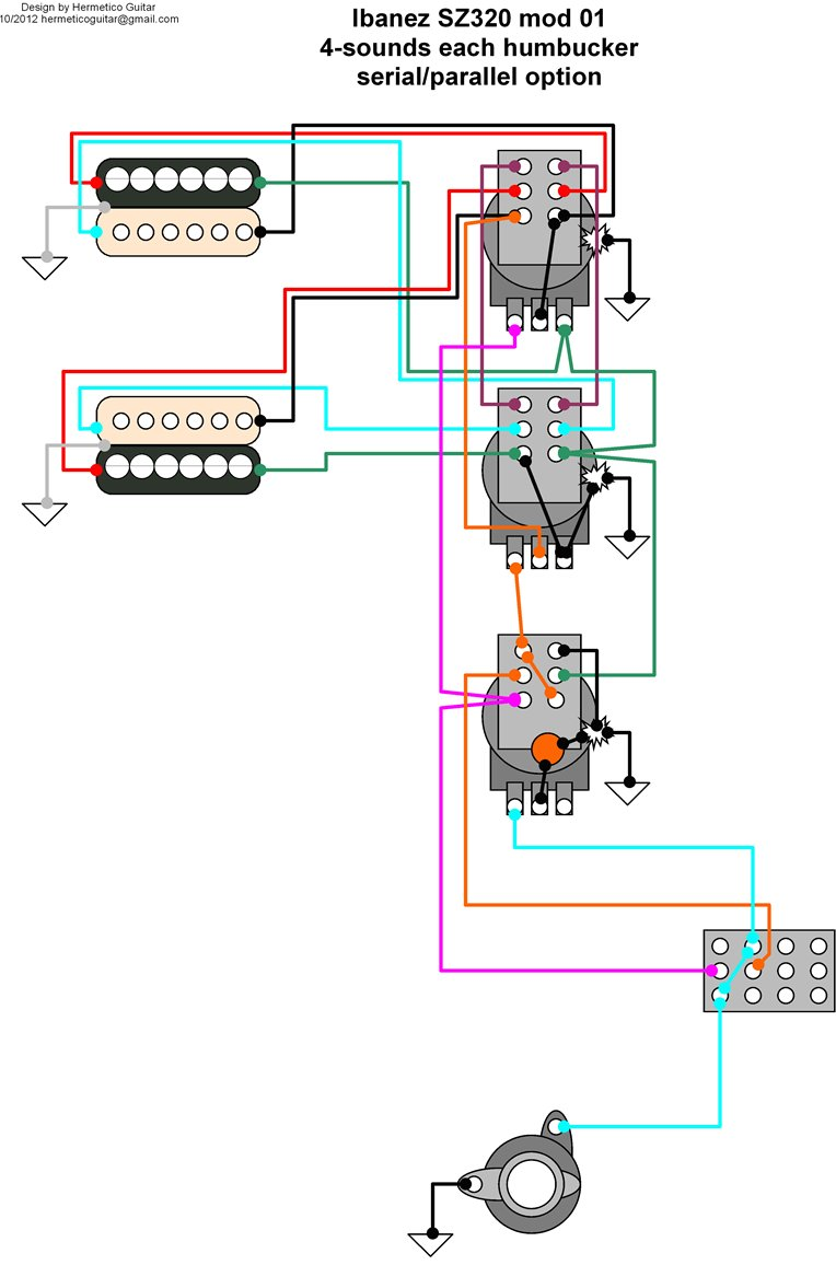 humbucker wiring diagram af55 art [ 764 x 1156 Pixel ]