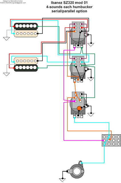 Ibanez Dual Humbucker Wiring Diagram - Wiring Diagrams Online on