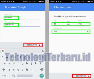 Panduan Buat Akun Google Baru di Xiaomi Redmi 3 Pro