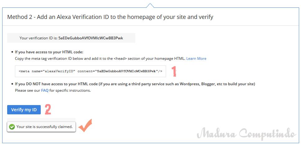 Cara Mudah Daftarkan Blog dan Verifikasi di Situs Alexa 2017