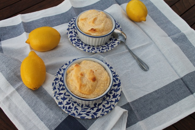 Food Lust People Love: Fluffy and light, these hot lemon curd soufflés are simple to make and bake, for a fresh dessert the whole family will love!