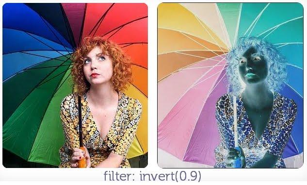 filter: invert