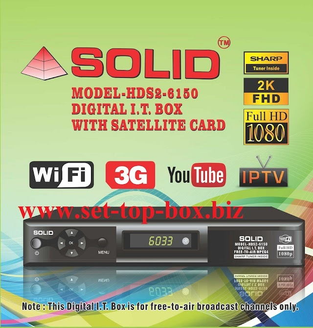 SOLID HDS2-6033 Set-Top Box Upgraded with HDS2-6150