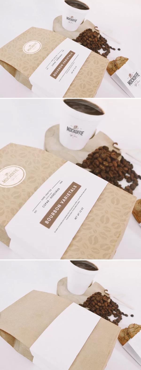 Download Free Mockup PSD 2018 - Free Coffee Bag And Cup Mockup