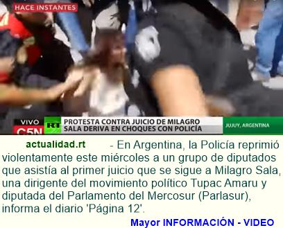 Video y fotos: Policía argentina reprime violentamente a diputados nacionales