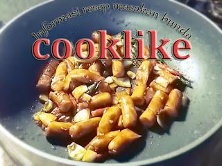 Cooklike Resep Cara Membuat Sosis Teriyaki Pedas