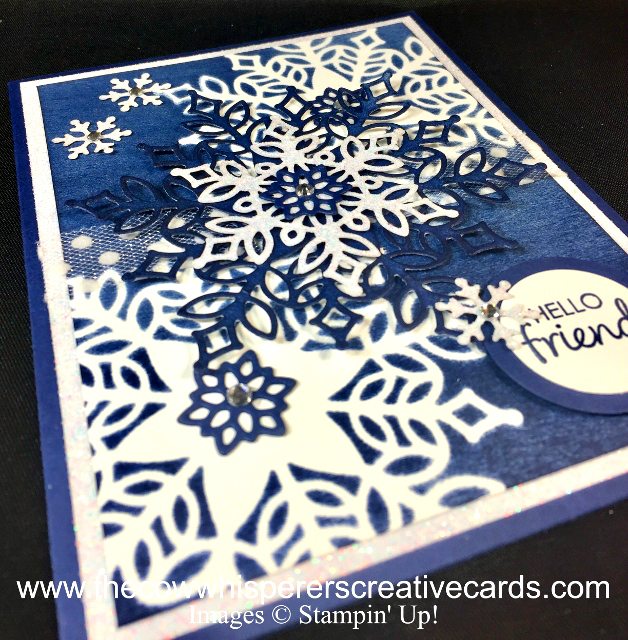 Card, Snowfall Thinlits Dies, Brayer, Stencil