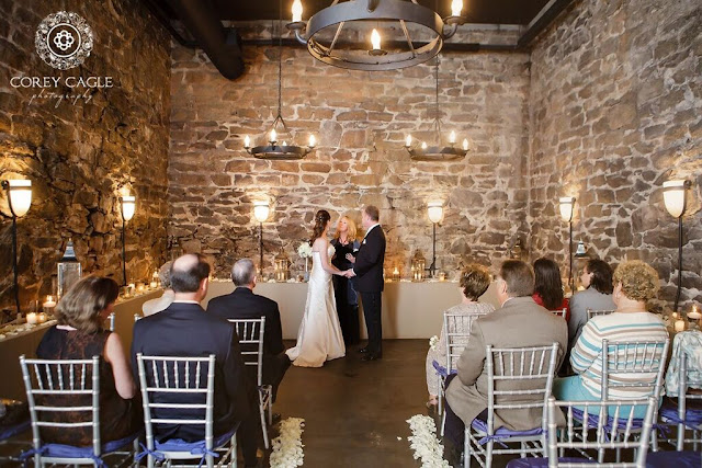 Wedding Ceremony in the Champagne Cellar | Corey Cagle Photography
