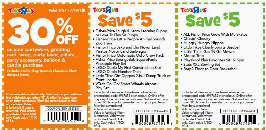 Toys r us video game coupons 2018