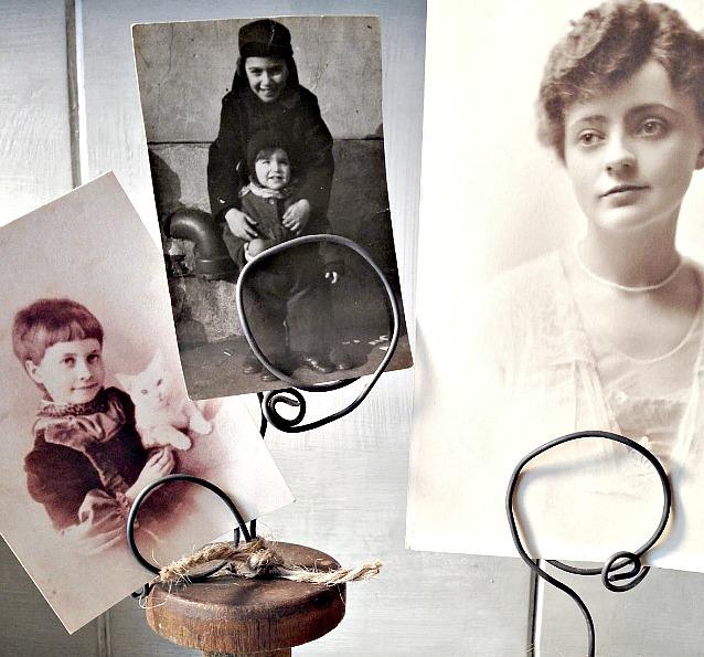 Vintage Spool Photo Display