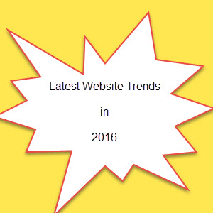 Latest website trends in 2016