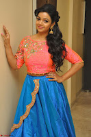 Nithya Shetty in Orange Choli at Kalamandir Foundation 7th anniversary Celebrations ~  Actress Galleries 041.JPG