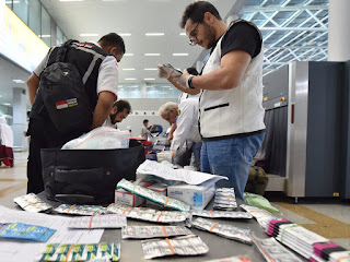 Source: Center for Government Communication, KSA. Food and drug inspectors are at the borders 24x7 to clear items from Hajj pilgrims.