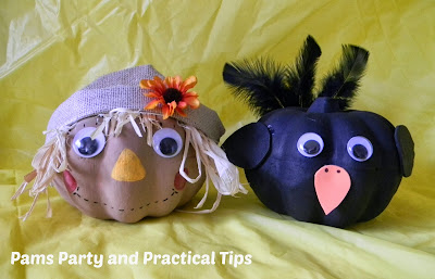 How to make scarecrow and crow pumpkins