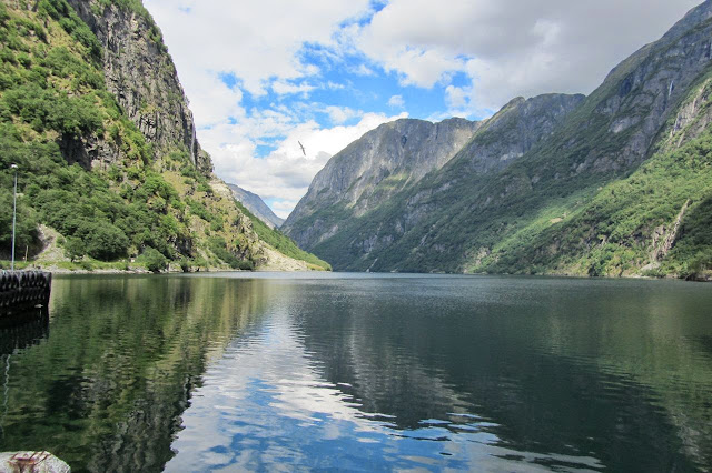 Noorwegen Flam varen door Naeroyfjord