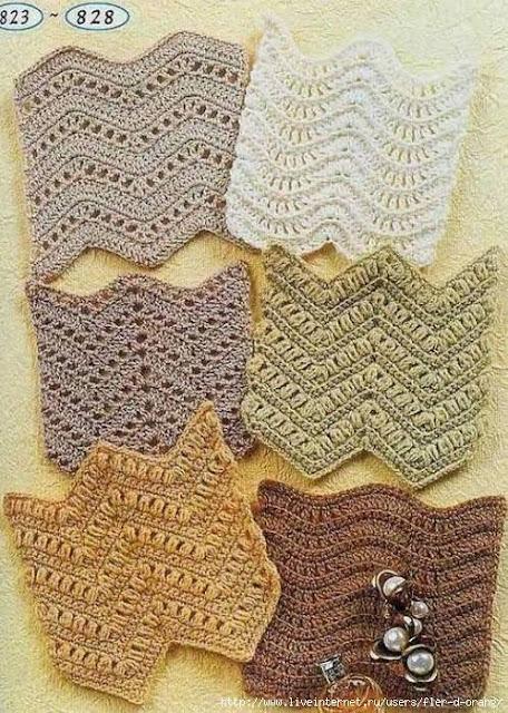 Patrón #869: Puntos Zig Zag a Crochet