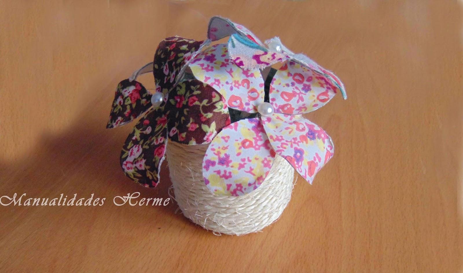 Manualidades herme diy hacer flores de tela y alambre - Como hacer manualidades con tela ...