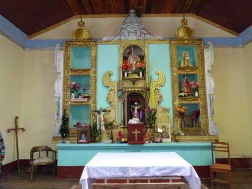 Der Altar der Kirche in Guadalupe
