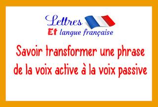 La voix active et la voix passive - Cours de Français