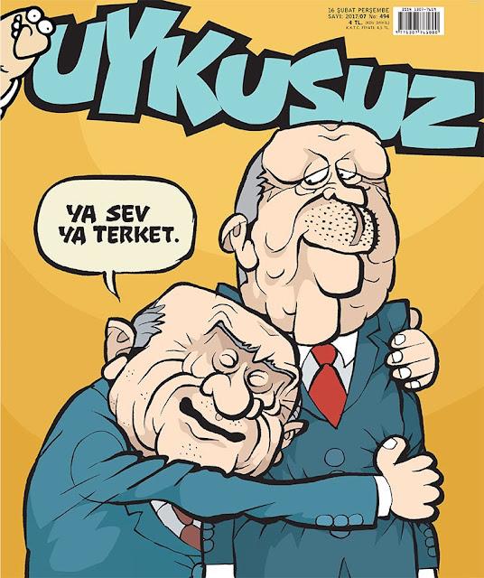 Uykusuz Dergisi | 16 Şubat 2017 Kapak Karikatürü