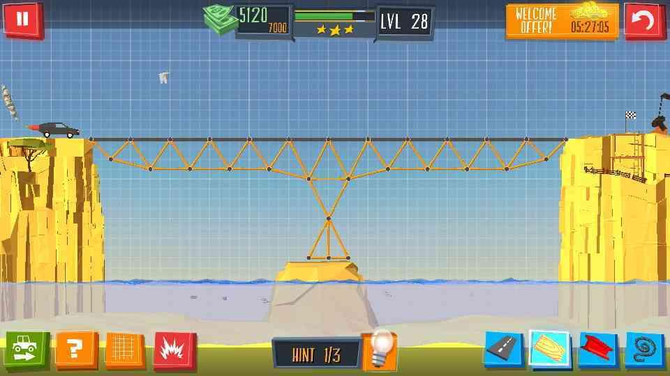 Build a Bridge Level 1-30 Solved, 3 Star Walk Through