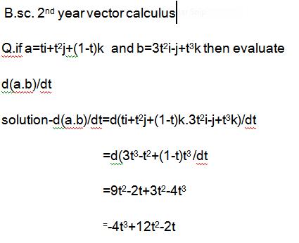 Differentiation of vectors