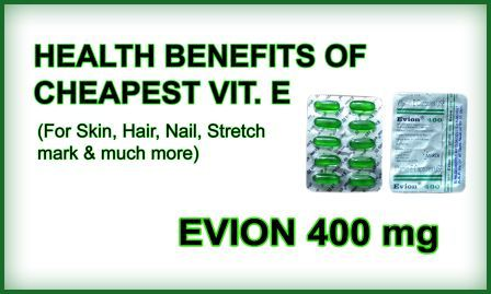 Cheapest Vitamin E Evion 400 ke Health Benefits, Side Effects aur Dose in Hindi