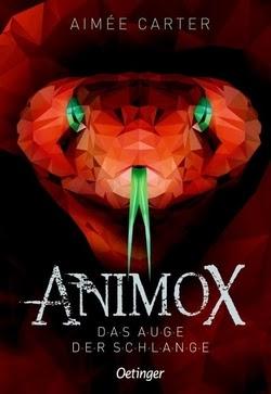 Bücherblog. Rezension. Buchcover. Animox - Das Auge der Schlange (Band 2) von Aimée Carter. Kinderbuch, Fantasy. Verlagsgruppe Oetinger.