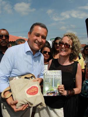 Branca Pires e Rui Costa. (Foto: Mateus Pereira/ASCOM Governo)