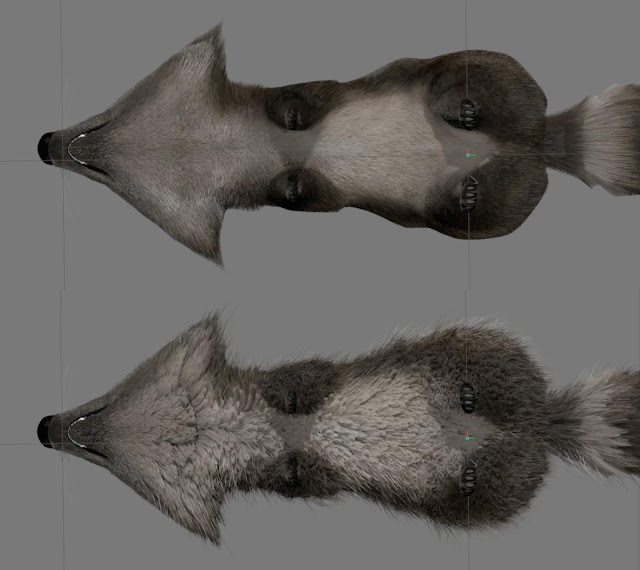 Incredibles 2 Raccoon with soft and scraggly fur hair