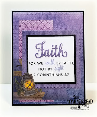 Our Daily Bread Designs Stamp/Die Duos: Walk By Faith, Custom Dies: Pierced Rectangles, Pierced Squares, Squares, Large Banners, Paper Collection: Christian Faith
