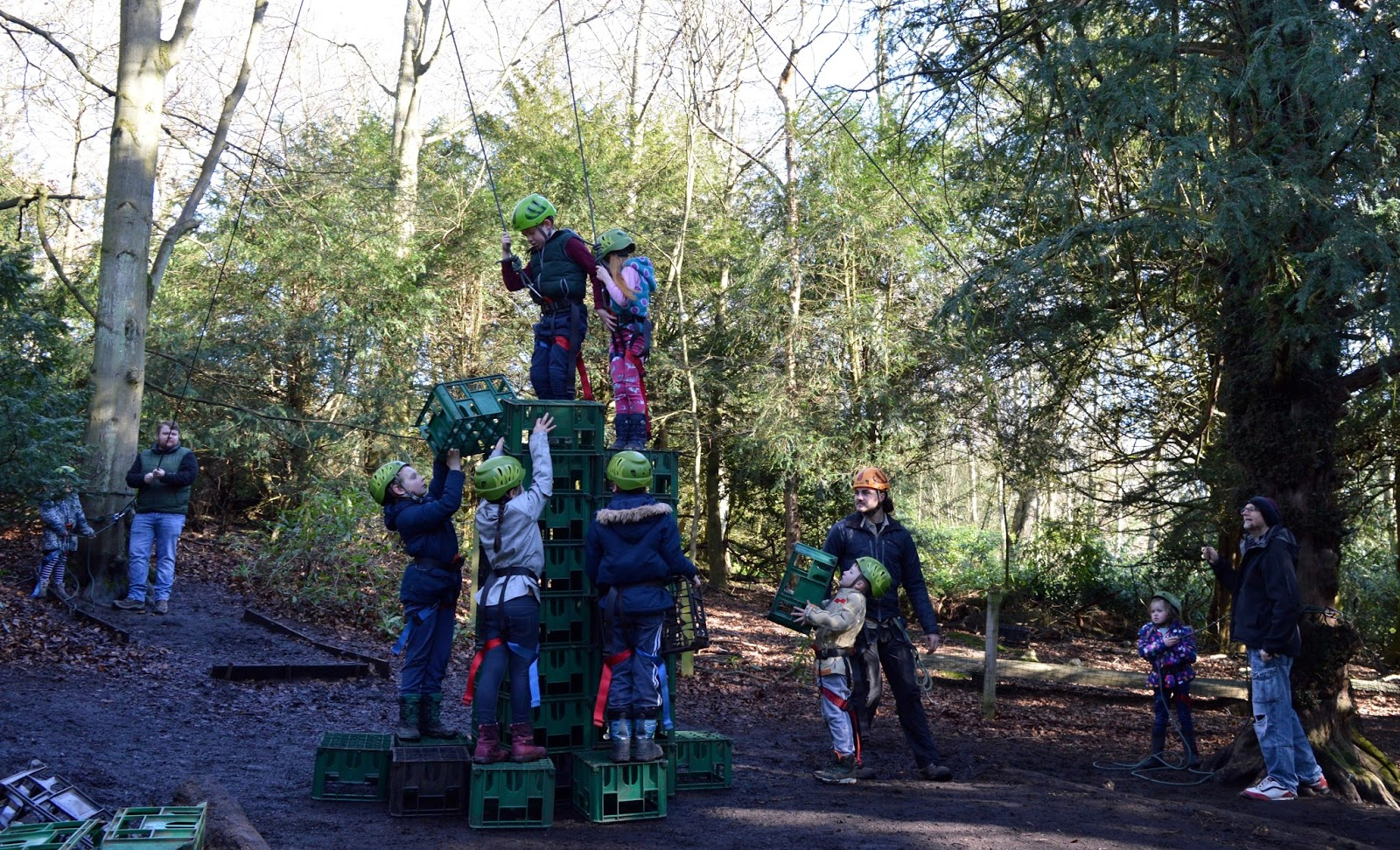 Beamish Wild | School Holiday Club & Activities in County Durham | North East England - crate stack team work