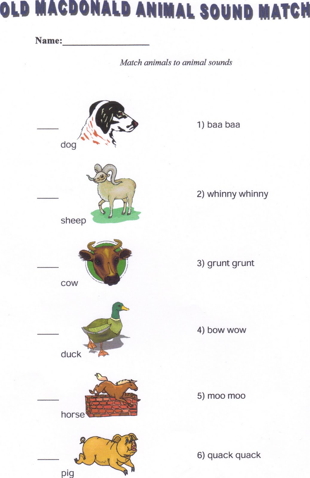 animals sound its worksheet kid print discovery plan