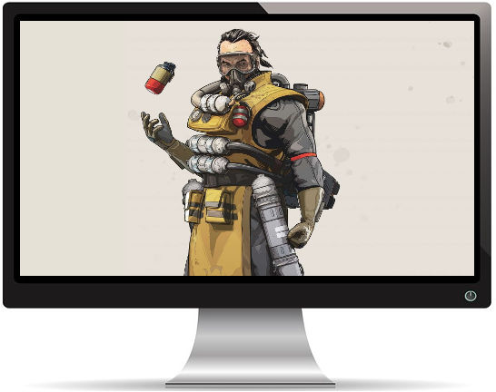Apex Legends Caustic Artwork - Fond d'écran en Full HD 1080p