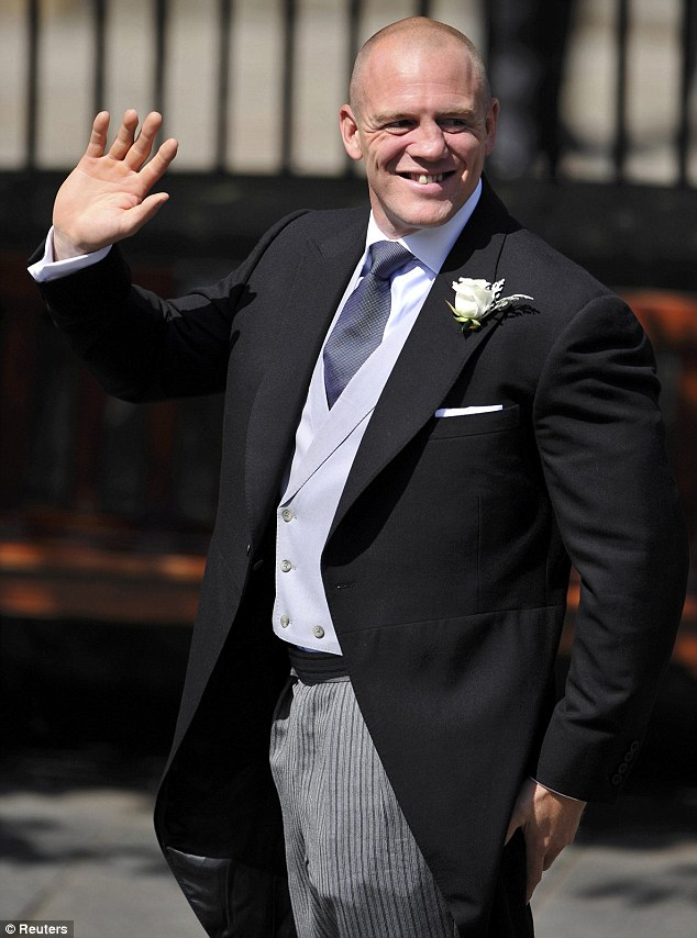 3f4cc7ee Jovial: Mike Tindall appeared the picture of calm as he arrived at  Edinburgh's Canongate Kirk ahead of his wedding to Zara Phillips