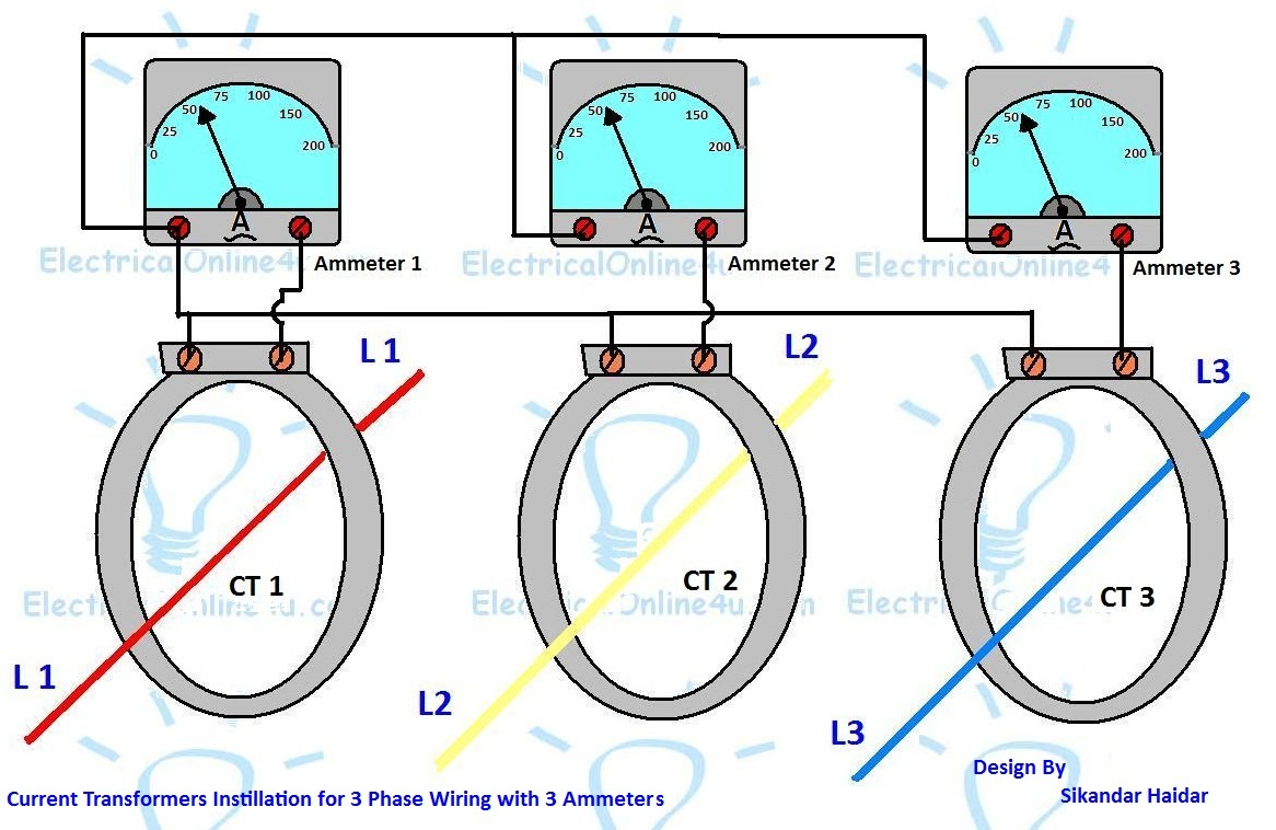 3 phase ammeter wiring diagram   30 wiring diagram images