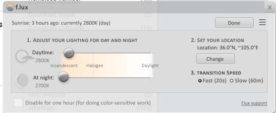 F.lux Filter Pelindung Mata Gratis Untuk PC Windows, Mac, Linux, IOS dan Android