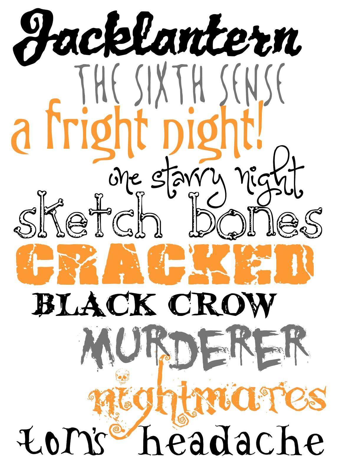 free halloween fonts # 8