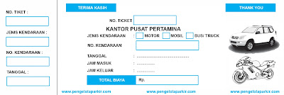 Percetakan Tiket Parkir Manual