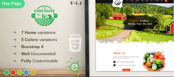 The Farm House Html5 Template Free