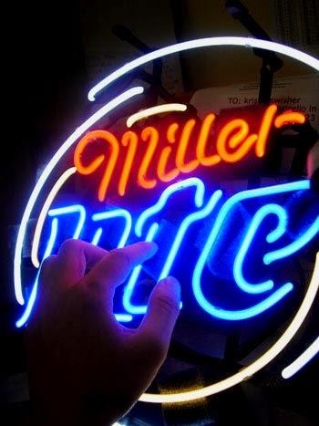 wiki neon sign blog miller lite beer bar club neon light sign 16 x. Black Bedroom Furniture Sets. Home Design Ideas
