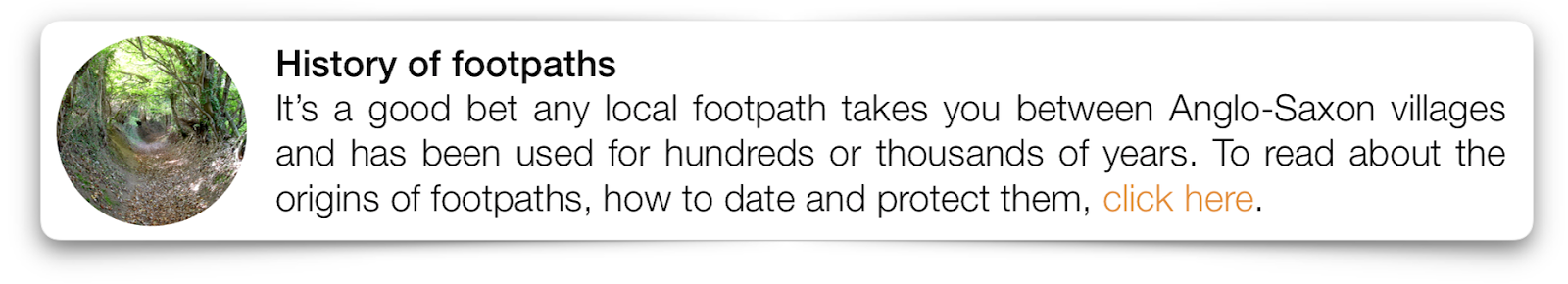 History of footpaths