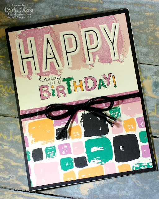 A birthday card created with Stampin' Up! Celebrations Duo Folder shared by inkheaven
