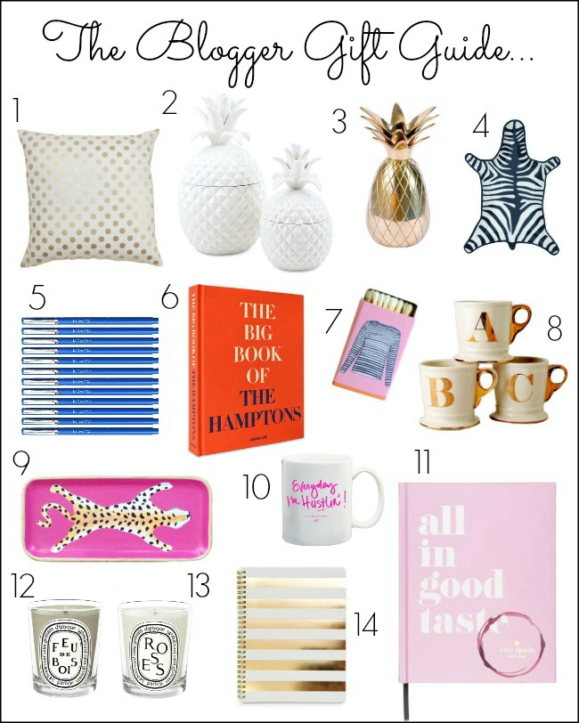 blogger gift guide - blogger gifts - pineapple gifts