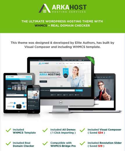 Arka Host - WHMCS WordPress Hosting Theme