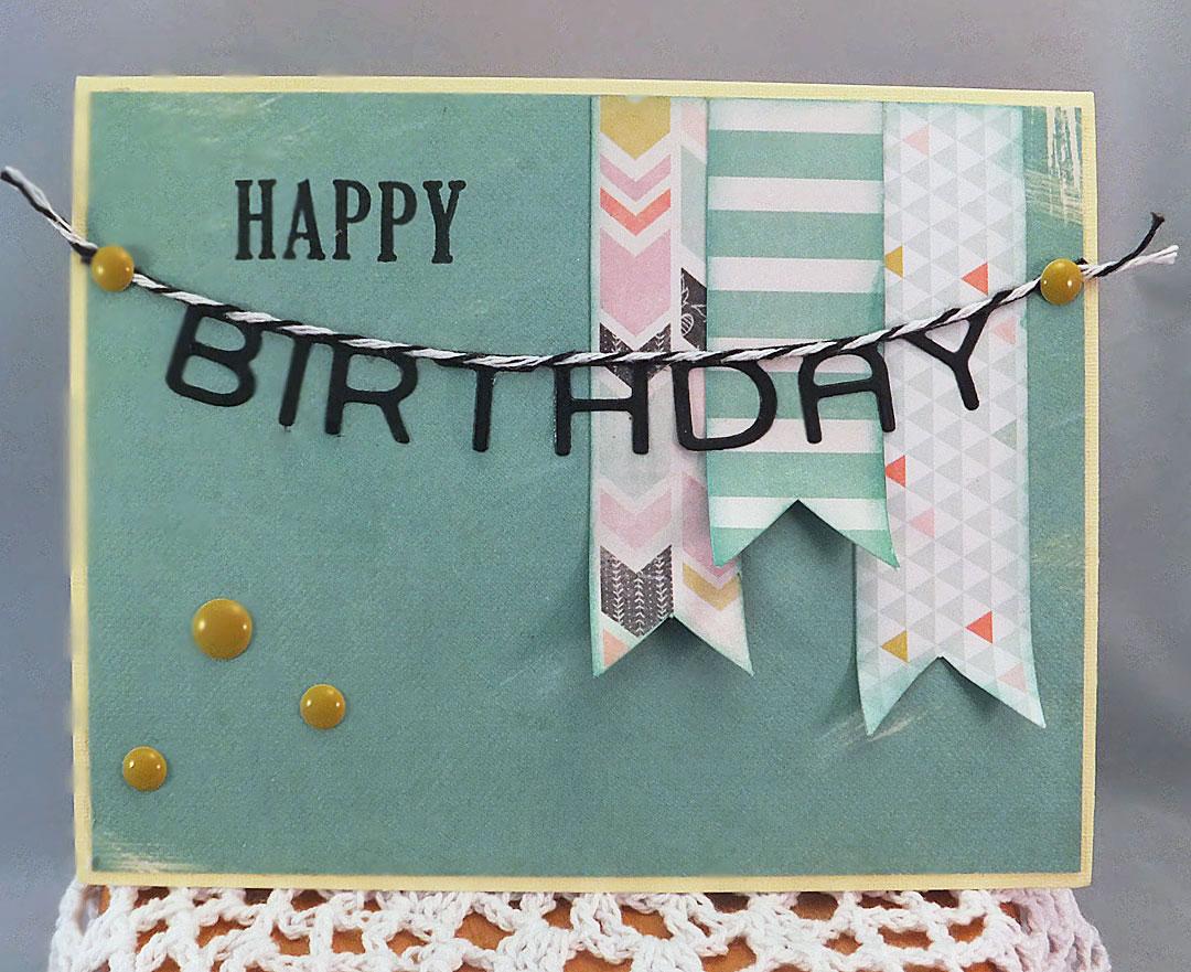 making a happy birthday banner
