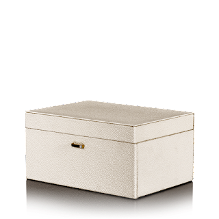 6675-Leatherite Off White Jewellery Box- Rs. 2,990