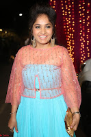 Madhvi Latha in Spicy Transparent Anarkali Dress at Zee Telugu Apsara Awards 2017 19.JPG