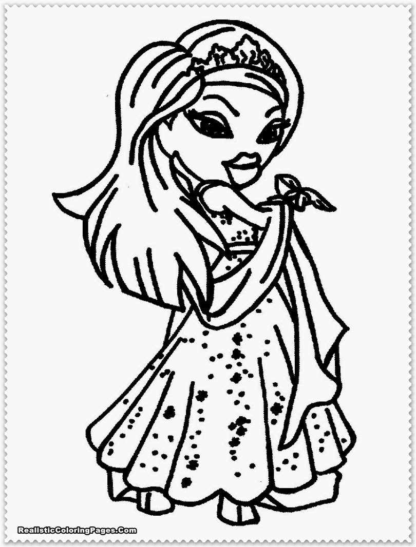 Bratz Coloring Pages Realistic